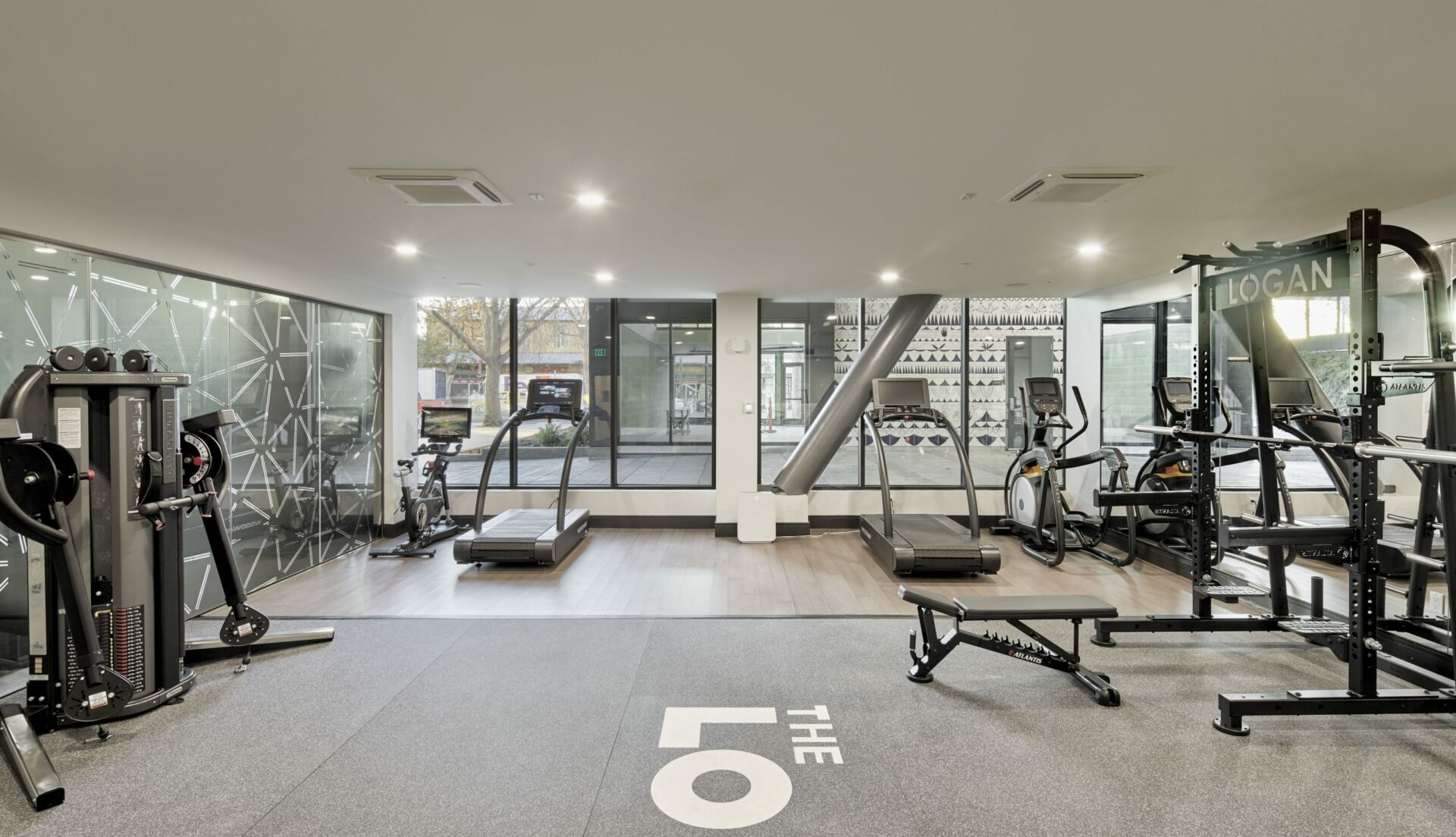 The Logan apartments with gym