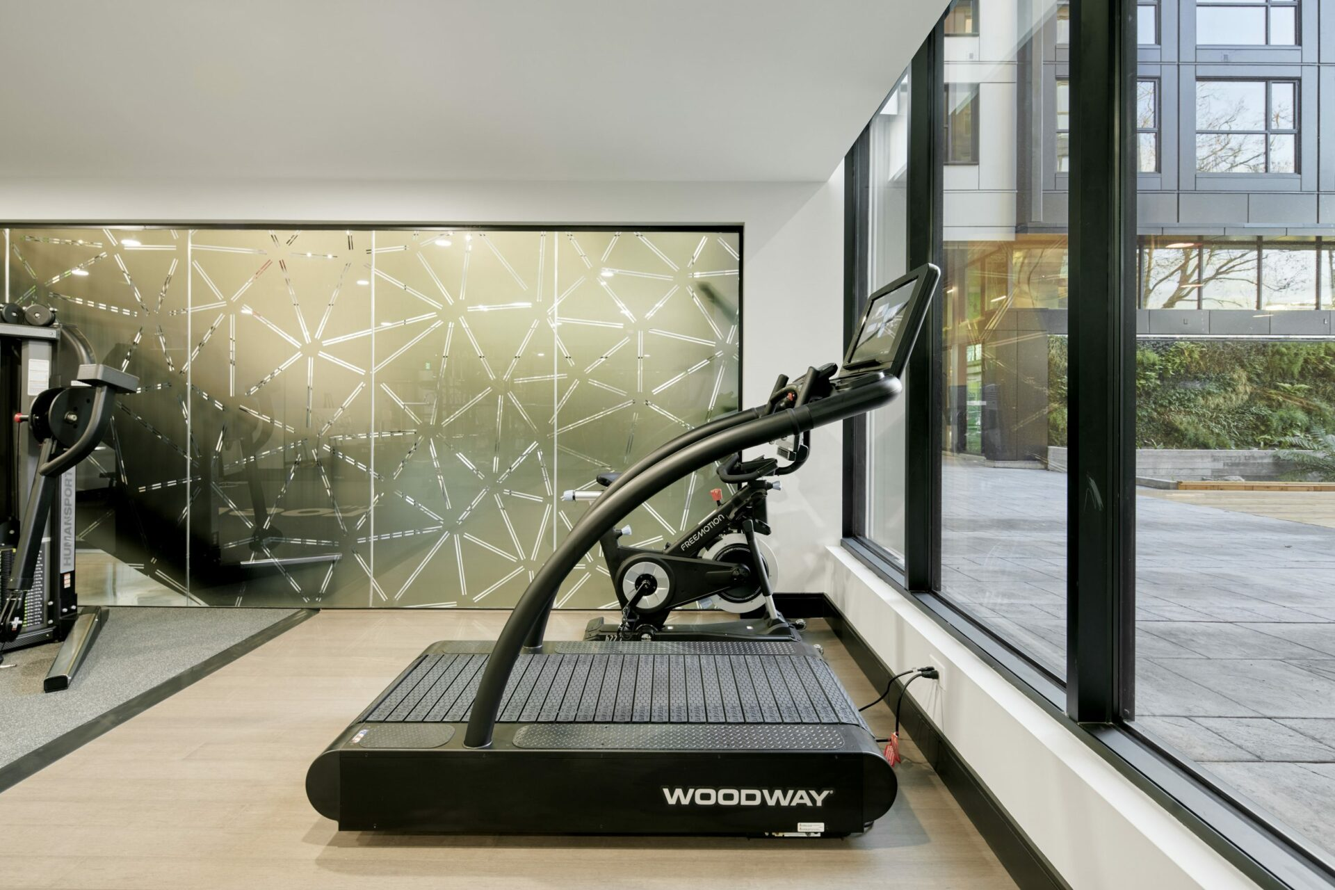 The Logan apartments with woodway treadmills