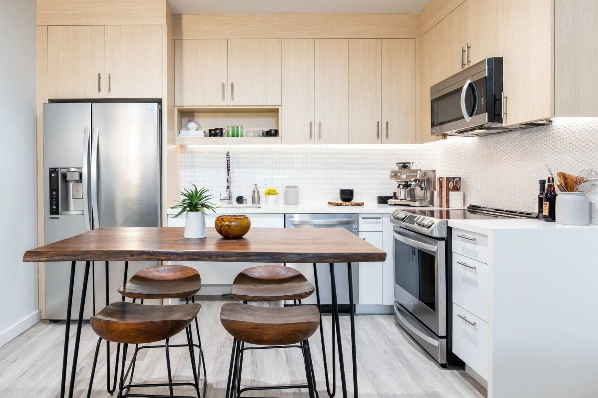 2 Bed Townhome Open Kitchen